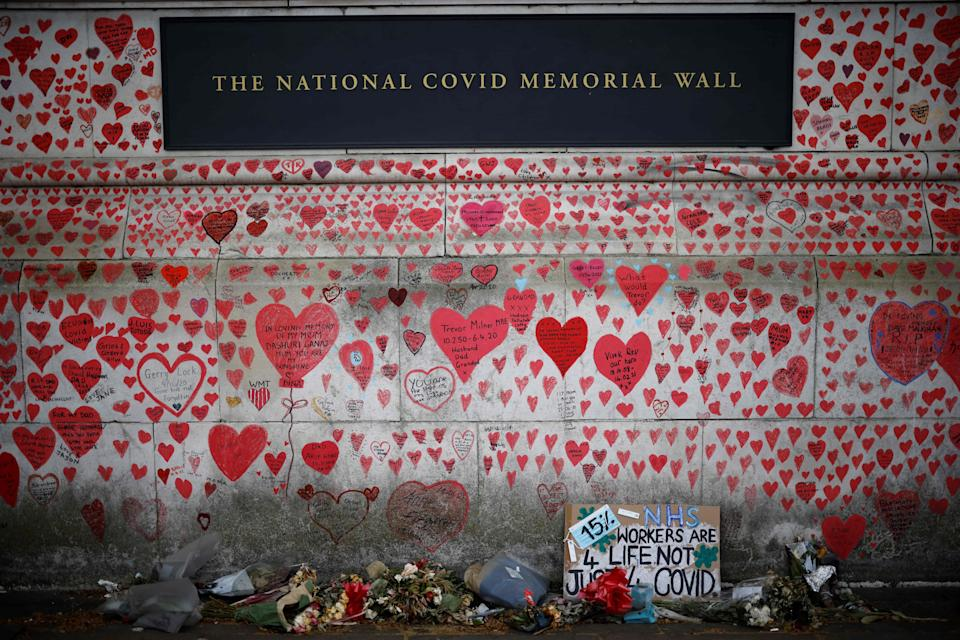 National Covid Memorial Wall (AFP via Getty Images)