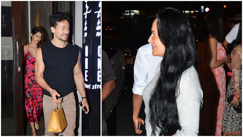 Disha Patani Refutes Breakup Rumours by Dining With Tiger Shroff and His Mommy Dearest – View Pics
