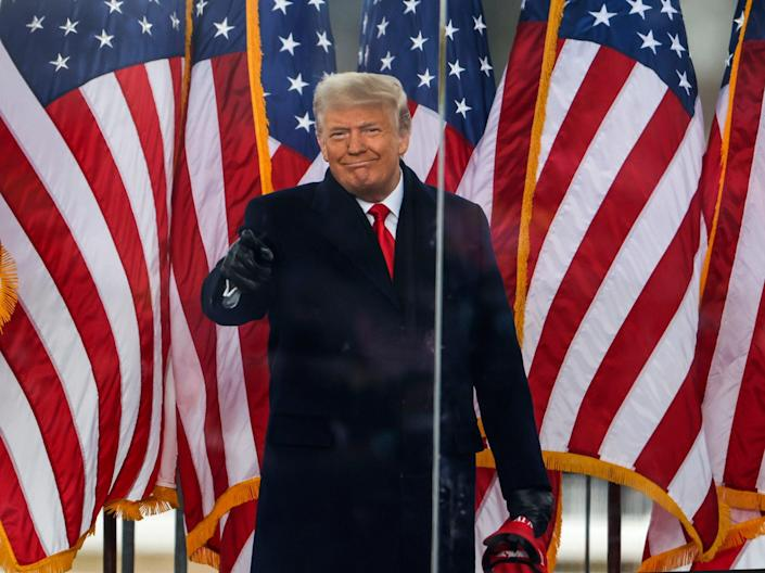 """Donald Trump arrives at the """"Stop The Steal"""" Rally on 6 January 2021 in Washington, DC ((Getty Images))"""