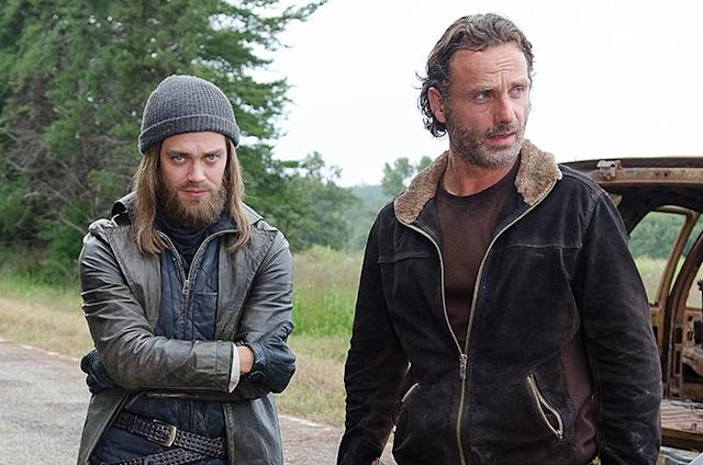 Tom Payne as Jesus and Andrew Lincoln as Rick Grimes in AMC's <em>The Walking Dead.</em> (Photo: Gene Page/AMC)