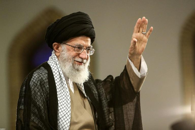 Iran's Supreme Leader Ayatollah Ali Khamenei, pictured August 13, 2018, says talks should continue with European states, who have been trying to find a way to salvage the agreement