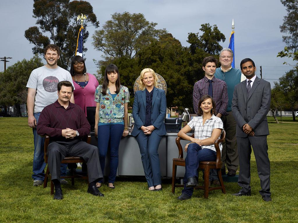 "The cast of ""Parks & Recreation."""