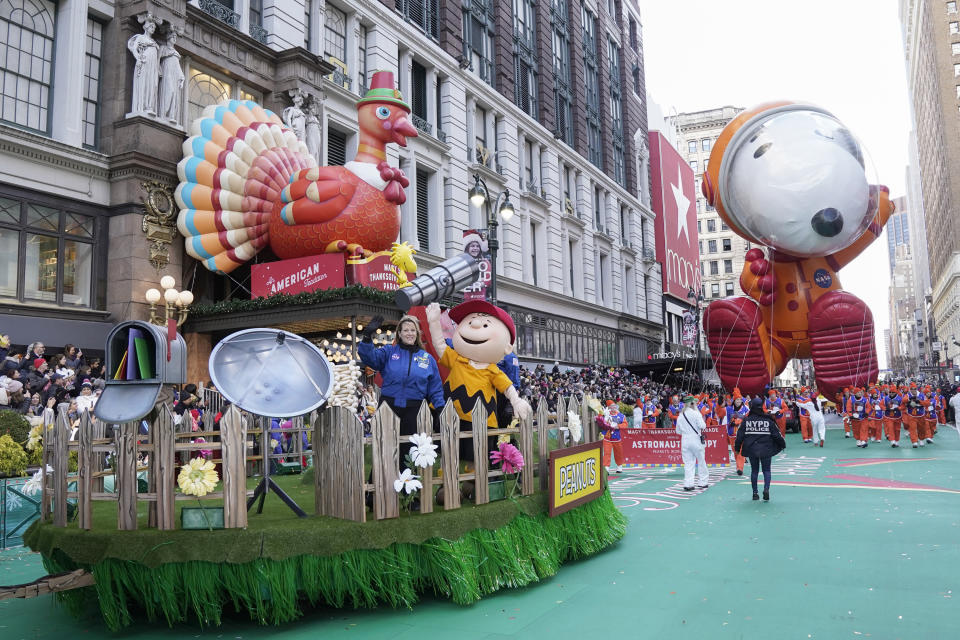 While this year's Macy's Thanksgiving Day Parade will take place, it will look much different than in 2019, pictured here, with no crowds allowed to gather — a good rule of thumb for holiday parades anywhere, doctors say. (Photo by: Peter Kramer/NBC/NBCU Photo Bank via Getty Images)