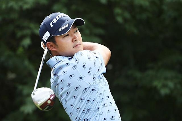 Japan's Shugo Imahira, shown at last year's PGA Championship, has received a special invitation to the 2019 Masters, Augusta National chairman Fred Ridley said Tuesday (AFP Photo/JAMIE SQUIRE)