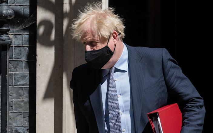 Boris Johnson said that 'on Monday... we'll have a look at where we are' - Wiktor Szymanowicz/Anadolu Agency via Getty Images