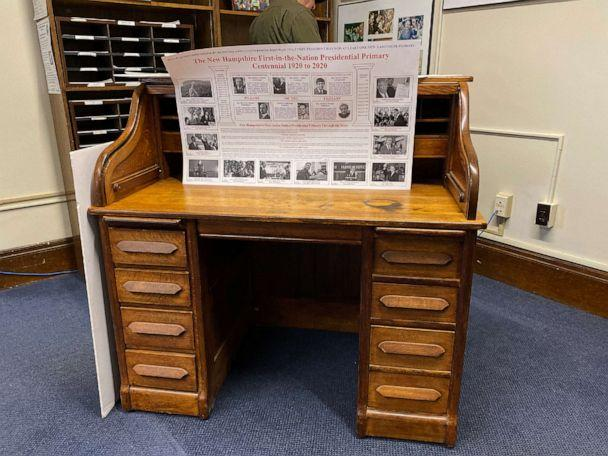 PHOTO: Candidates will sign the paperwork to get on the ballot for the New Hampshire primary at this desk, which belonged to Stephen A. Bullock, the author of original legislation to establish primary. (Christopher Donato/ABC News)