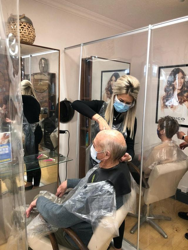 Hairdresser saves retired company director