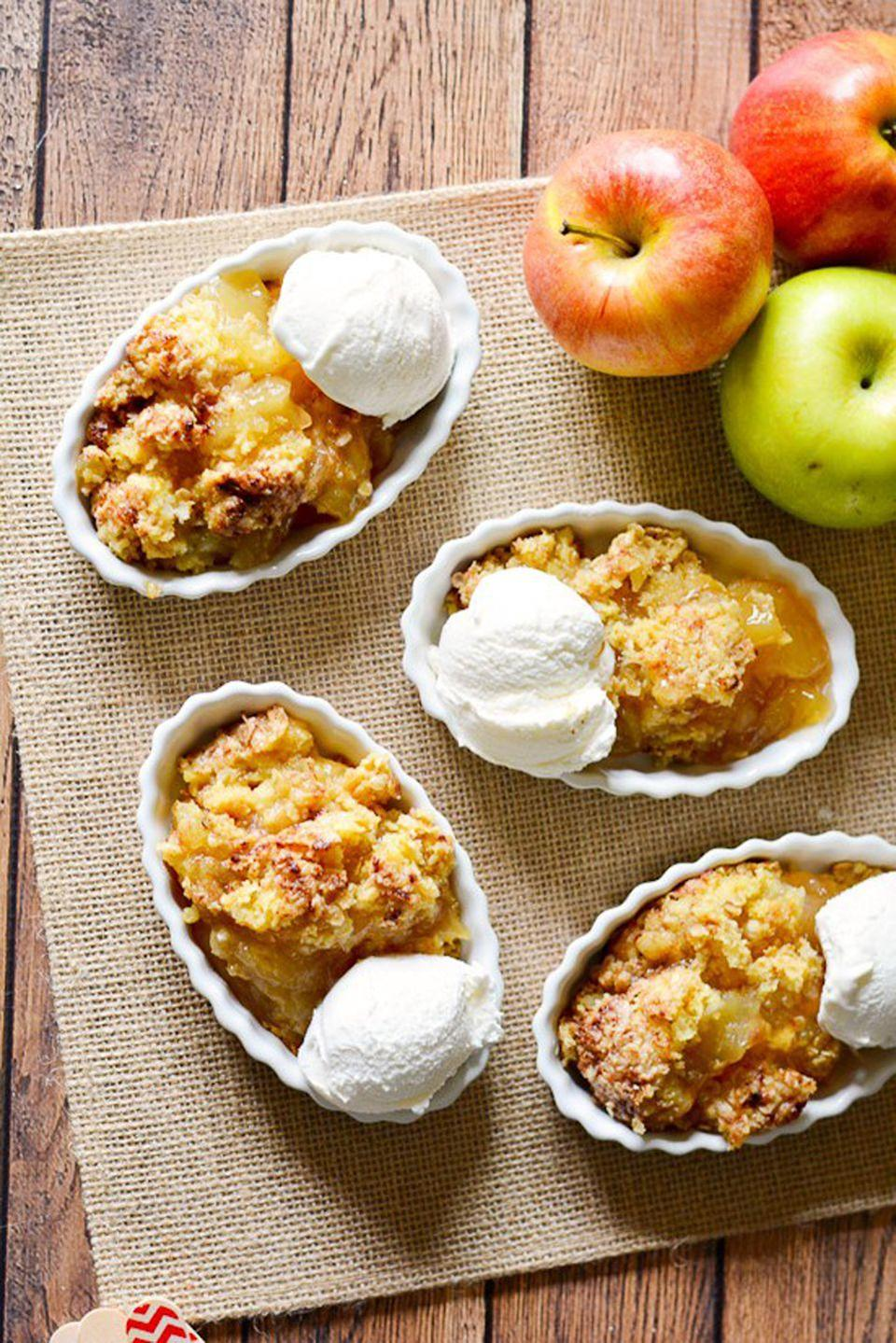 """<p>Ever have a late-night sweet tooth but don't want to stay up making your favorite treat? This easy apple cobbler is ready in just 30 minutes.</p><p><strong>Get the recipe at <a rel=""""nofollow noopener"""" href=""""https://www.thegraciouswife.com/easy-apple-cobbler-recipe/"""" target=""""_blank"""" data-ylk=""""slk:The Gracious Wife"""" class=""""link rapid-noclick-resp"""">The Gracious Wife</a>.</strong><br></p><p><a rel=""""nofollow noopener"""" href=""""https://www.amazon.com/Wilton-Perfect-Results-Non-Stick-Multipack/dp/B07328J6QJ"""" target=""""_blank"""" data-ylk=""""slk:SHOP BAKING PANS"""" class=""""link rapid-noclick-resp"""">SHOP BAKING PANS</a></p>"""