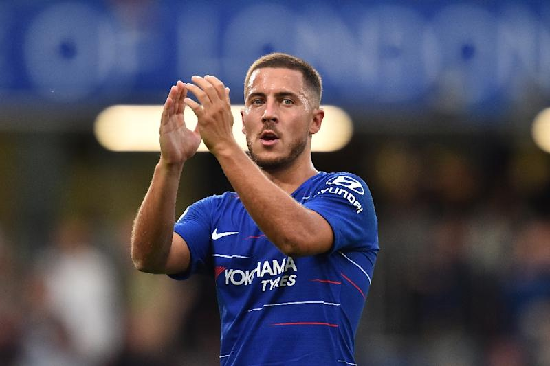 Staying put: Eden Hazard says he will remain at Chelsea this month