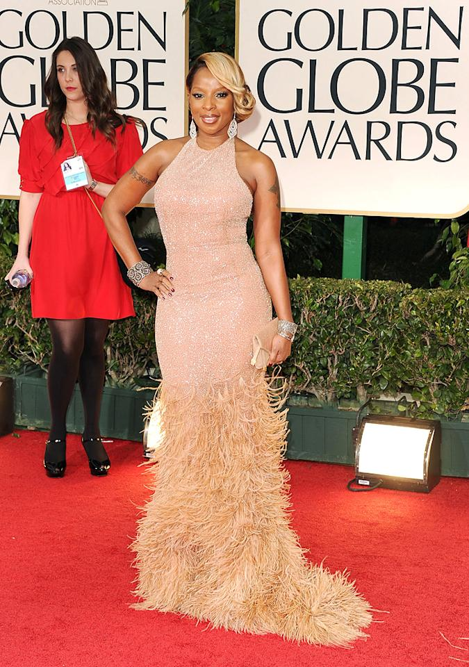 Mary J. Blige arrives at the 69th Annual Golden Globe Awards in Beverly Hills, California, on January 15.