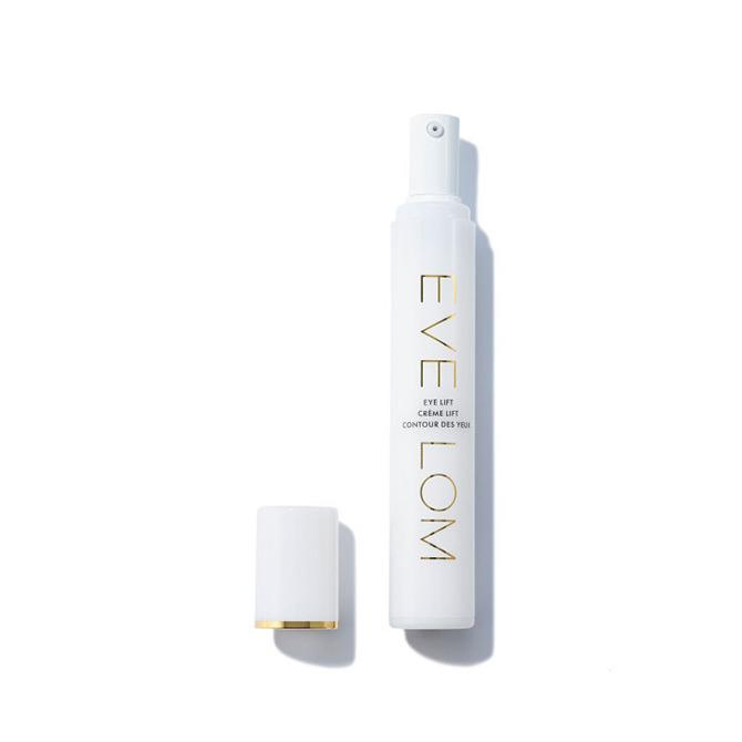 """<p>Although this cream feels light and not heavy or greasy, it packs a powerful punch. Designed to lift, firm, and smooth the eye area, the fragrance-free formula pairs potent line reducers vitamin C and oat kernel extract with retinol and hyaluronic acid. Skin looks noticeably brighter. <i><a href=""""http://www.evelom.com/Eye-Lift-15ml/MEV0028_1022,en_GB,pd.html"""">Eve Lom Eye Lift</a>, $68.</i></p>"""