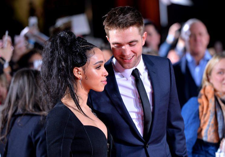 <i>FKA Twigs and Robert Pattinson were loved up at <i>The Lost City of Z</i> premiere [Photo: PA]</i>
