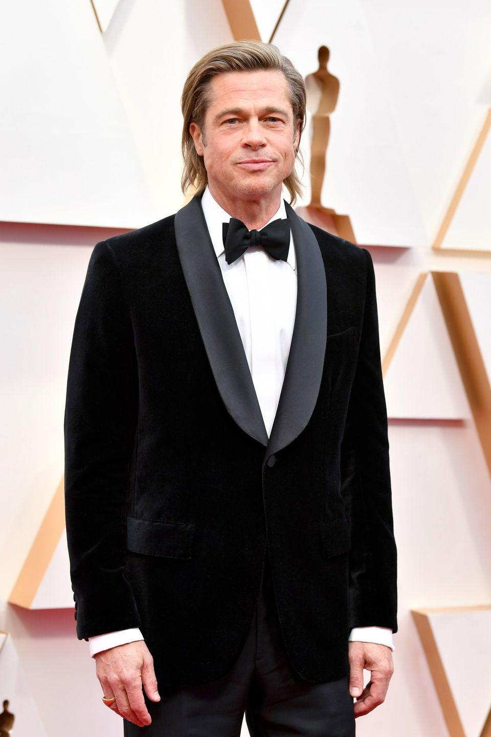"""<p>Before Brad Pitt was, well, Brad Pitt, the Missouri native pursued a degree in journalism at the University of Missouri and was a member of <a href=""""https://www.popsugar.com/celebrity/photo-gallery/26291730/image/26311598/He-Frat-Boy"""" rel=""""nofollow noopener"""" target=""""_blank"""" data-ylk=""""slk:Sigma Chi"""" class=""""link rapid-noclick-resp"""">Sigma Chi</a>. The actor dropped out with <a href=""""https://www.hercampus.com/culture/entertainment/brad-pitt-talks-dropping-out-college#:~:text=In%20an%20interview%20with%20talk,for%20myself%2C%22%20he%20said."""" rel=""""nofollow noopener"""" target=""""_blank"""" data-ylk=""""slk:only a few credits to go"""" class=""""link rapid-noclick-resp"""">only a few credits to go</a> to head to Hollywood. </p>"""