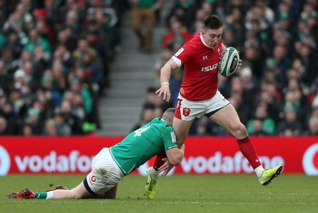 Wales wing Josh Adams is suspended for Sunday's Guinness Six Nations game against Ireland