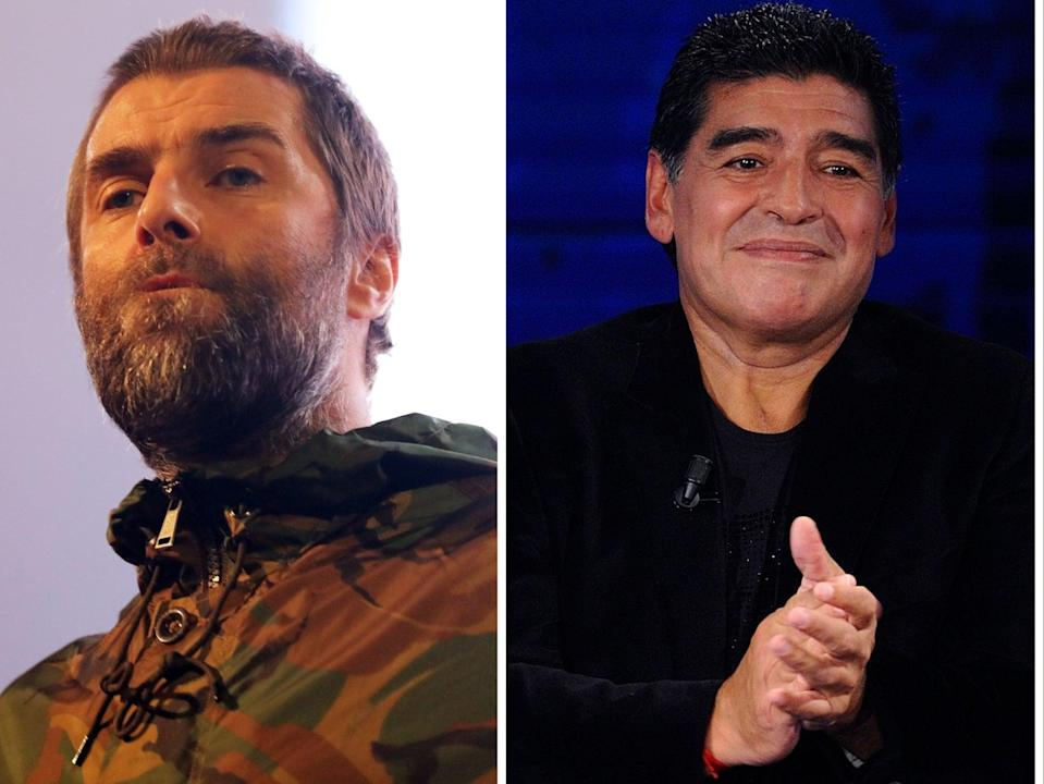 Liam Gallagher recalled twice meeting football legend  Diego Maradona (Rex)