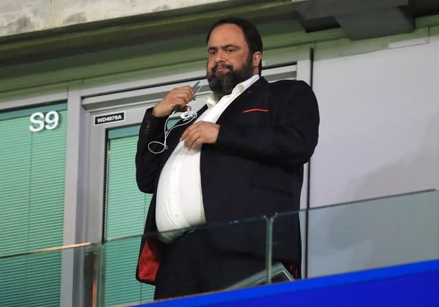 Nottingham Forest owner Evangelos Marinakis revealed on Tuesday that he had contracted coronavirus. (Mike Egerton/PA)