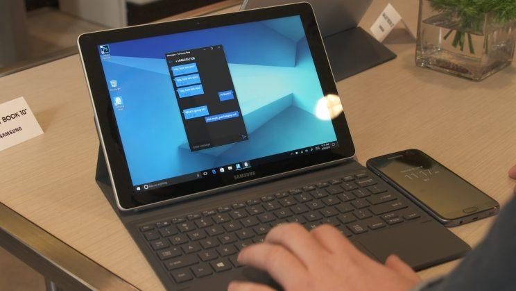Samsung Galaxy Book 10 with keyboard.