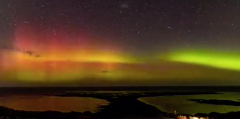 An image of the Aurora Australis in April 2018 from Victoria.