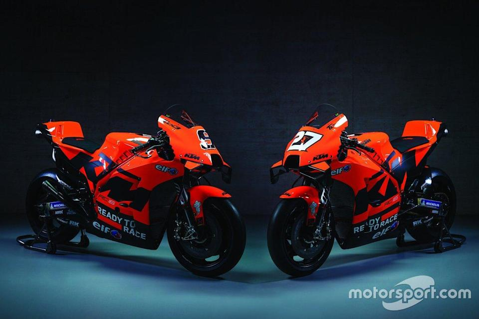 "Motos de Danilo Petrucci, Red Bull KTM Tech 3 e Iker Lecuona, Red Bull KTM Tech 3<span class=""copyright"">KTM </span>"