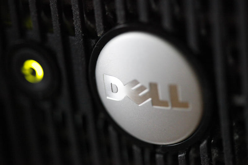 In this Aug. 15, 2011 photo, the logo on a Dell computer is displayed, in Philadelphia. Dell Inc. is making a late push to win shareholder support for founder Michael Dell's plan to take the slumping computer maker private, an indication that the scheduled vote, Thursday, July 18, 2013, could be close. Supporters of the $24.4 billion buyout believe Dell Inc. stands a better chance of turning around if it can make long-term strategic decisions without worrying about meeting Wall Street's quarter-to-quarter expectations. (AP Photo/Matt Rourke)