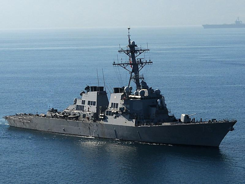 The USS Higgins was one of two vessels carrying out 'routine and regular operations' according to the US Pacific Fleet: Getty