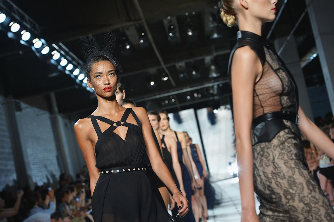 NEW YORK, NY - SEPTEMBER 07:  Models walk the runway at the Jason Wu Spring 2013 fashion show during Mercedes-Benz Fashion Week at St. John's Center Studios on September 7, 2012 in New York City.  (Photo by Slaven Vlasic/Getty Images)