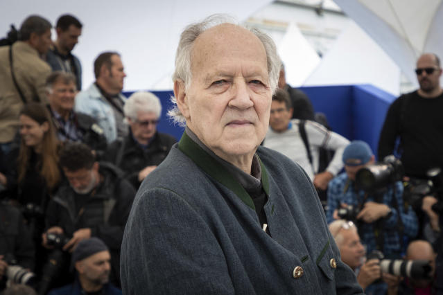 Werner Herzog at the photo call for the film 'Family Romance, LLC' at the Cannes Film Festival on May 19, 2019. (Photo by Vianney Le Caer/Invision/AP)