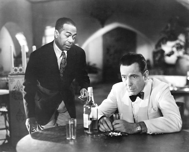 Dooley Wilson and Humphrey Bogart in <em>Casablanca</em>, 1942. (Photo: Everett Collection)