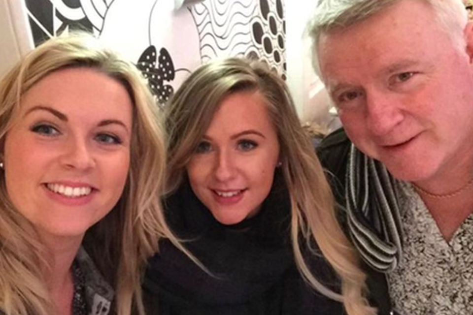 Left to right: Rebecca McCarron, Laura Soutar and Iain Soutar (Soutar family)