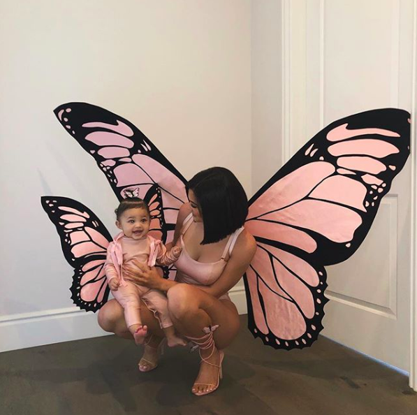 <p>Kylie Jenner took to Instagram to share an adorable snap of her and daughter Stormi in matching butterfly ensembles this Halloween. <em>[Photo: Instagram]</em> </p>