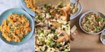 """<p>We. Love. Risotto. Why? Well, you can quite literally bung anything in, and it'll taste delicious. Think <a href=""""https://www.delish.com/uk/cooking/recipes/a30241224/shrimp-scampi-risotto-recipe/"""" rel=""""nofollow noopener"""" target=""""_blank"""" data-ylk=""""slk:prawns"""" class=""""link rapid-noclick-resp"""">prawns</a>, <a href=""""https://www.delish.com/uk/cooking/recipes/a30053089/easy-mushroom-risotto-recipe/"""" rel=""""nofollow noopener"""" target=""""_blank"""" data-ylk=""""slk:mushrooms"""" class=""""link rapid-noclick-resp"""">mushrooms</a>, <a href=""""https://www.delish.com/uk/cooking/recipes/a35291295/artichoke-pea-risotto/"""" rel=""""nofollow noopener"""" target=""""_blank"""" data-ylk=""""slk:peas"""" class=""""link rapid-noclick-resp"""">peas</a>, <a href=""""https://www.delish.com/uk/cooking/recipes/a30241037/butternut-squash-risotto-parmesan-recipe/"""" rel=""""nofollow noopener"""" target=""""_blank"""" data-ylk=""""slk:butternut squash"""" class=""""link rapid-noclick-resp"""">butternut squash</a> (and the rest). Not to mention, with a little practice, it's super easy to make. So, if you're after some weeknight dinner inspiration, we've got your back! With everything from <a href=""""https://www.delish.com/uk/cooking/recipes/a35291295/artichoke-pea-risotto/"""" rel=""""nofollow noopener"""" target=""""_blank"""" data-ylk=""""slk:Artichoke & Pea Risotto"""" class=""""link rapid-noclick-resp"""">Artichoke & Pea Risotto</a> to <a href=""""https://www.delish.com/uk/cooking/recipes/a29982406/creamy-asparagus-bacon-risotto-recipe/"""" rel=""""nofollow noopener"""" target=""""_blank"""" data-ylk=""""slk:Creamy Asparagus And Bacon Risotto"""" class=""""link rapid-noclick-resp"""">Creamy Asparagus And Bacon Risotto</a>, we're convinced you'll find a recipe worth making.</p>"""