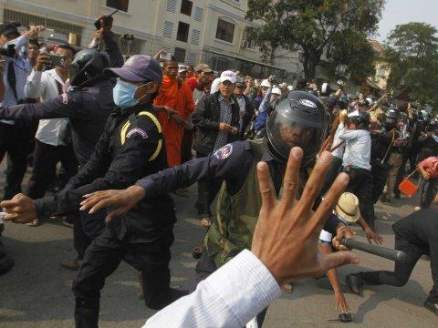 Cambodian protesters