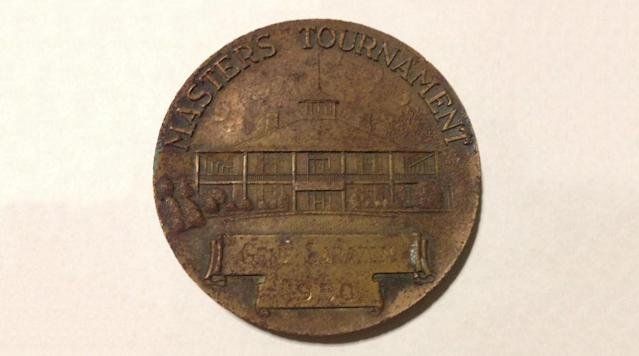 """A Reddit user posted photos of a bronze medallion bearing Gene Sarazen's name and engraved with """"1950"""" and """"Masters Tournament"""" on Saturday."""