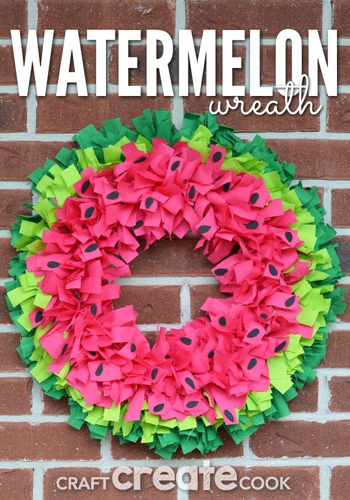 "<p>Easily re-create this adorable wreath by tying colorful fabric strips to a wire frame. </p><p><strong>Get the tutorial at <a href=""http://www.craftcreatecook.com/watermelon-wreath/"" rel=""nofollow noopener"" target=""_blank"" data-ylk=""slk:Craft Create Cook"" class=""link rapid-noclick-resp"">Craft Create Cook</a>. </strong></p><p><strong><a class=""link rapid-noclick-resp"" href=""https://www.amazon.com/Darice-Foam-Sheet-X18-Black/dp/B003W0IFU2?tag=syn-yahoo-20&ascsubtag=%5Bartid%7C10050.g.4395%5Bsrc%7Cyahoo-us"" rel=""nofollow noopener"" target=""_blank"" data-ylk=""slk:SHOP BLACK FOAM"">SHOP BLACK FOAM</a><br></strong></p>"
