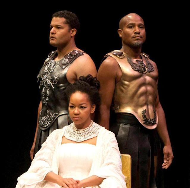 Brandon J. Dirden, Seth Gilliam, and Crystal Dickinson (Photo: Houston Shakespeare Festival via Facebook)