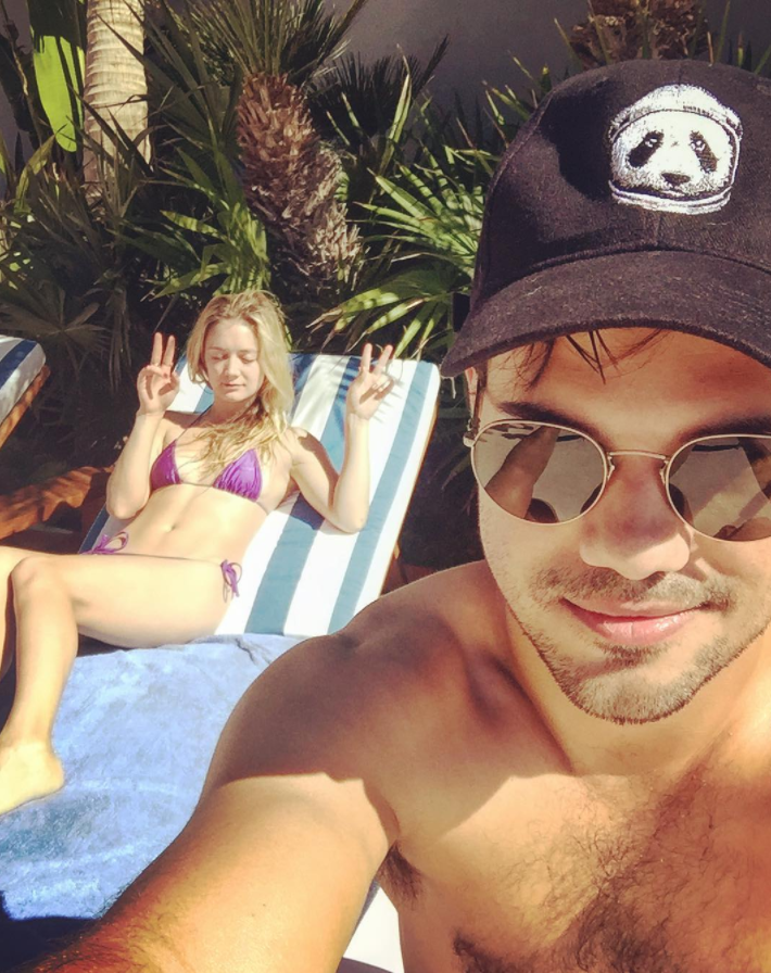 Billie Lourd and Taylor Lautner are enjoying an outdoorsy belated Valentine's Day vacation