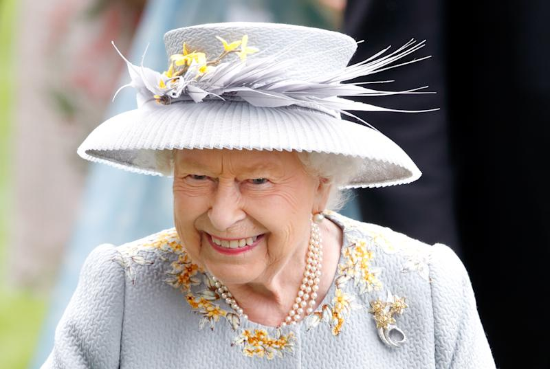 ASCOT, UNITED KINGDOM - JUNE 20: (EMBARGOED FOR PUBLICATION IN UK NEWSPAPERS UNTIL 24 HOURS AFTER CREATE DATE AND TIME) Queen Elizabeth II attends day three, Ladies Day, of Royal Ascot at Ascot Racecourse on June 20, 2019 in Ascot, England. (Photo by Max Mumby/Indigo/Getty Images)