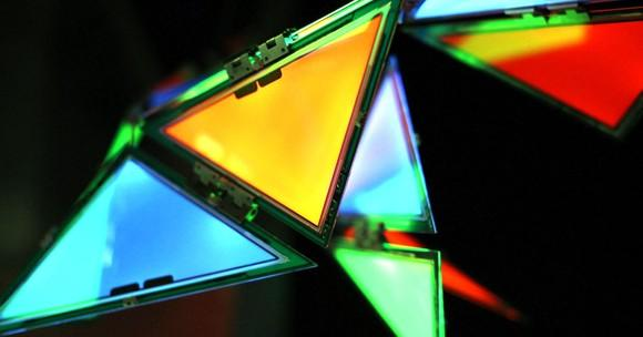 Colorful triangle-shaped OLED lights