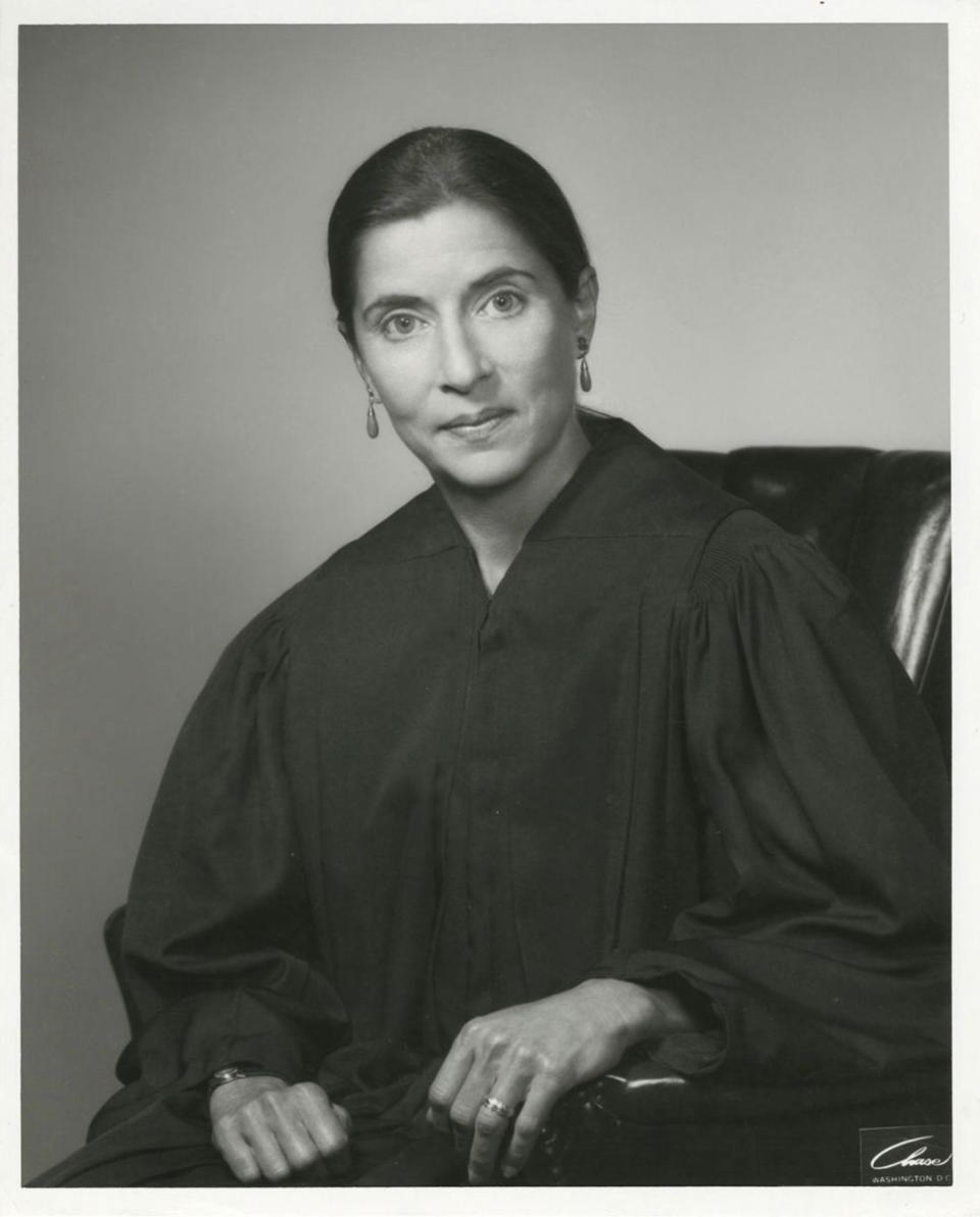 Judge Ruth Bader Ginsburg during her first term as a United States Circuit Judge for the U.S. Court of Appeals for the District of Columbia. (Photo: Supreme Court of the United States)