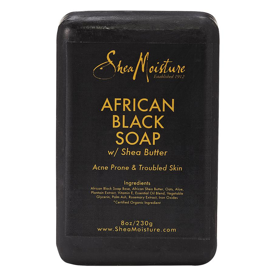 """<p>""""I normally don't break out, but I have been lately,"""" Dunn says. """"So I researched natural products and came across African Black Soap. I've been using it for two weeks and have seen a difference. The acne spots and scarring have faded.""""</p> <p>SheaMoisture African Black Soap</p>"""