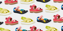 """<p>Let's be real: Sandals don't often give you the same support as your <a href=""""https://www.oprahdaily.com/style/g27244181/best-white-sneakers-for-women/"""" rel=""""nofollow noopener"""" target=""""_blank"""" data-ylk=""""slk:everyday sneakers"""" class=""""link rapid-noclick-resp"""">everyday sneakers</a> or <a href=""""https://www.oprahdaily.com/style/g27585781/best-walking-shoes-for-women/"""" rel=""""nofollow noopener"""" target=""""_blank"""" data-ylk=""""slk:go-to walking shoes"""" class=""""link rapid-noclick-resp"""">go-to walking shoes</a>. But that doesn't mean you can't find a comfortable pair that offers some sort of respite for your aching, hard-working feet. </p><p>""""There are five key things to keep in mind when you're shopping for a quality pair of sandals for women,"""" says <a href=""""https://www.stopfeetpainfast.com/about-stop-foot-pain-fast/meet-dr-weinert-troy-mi/"""" rel=""""nofollow noopener"""" target=""""_blank"""" data-ylk=""""slk:Dr. Anthony Weinert"""" class=""""link rapid-noclick-resp"""">Dr. Anthony Weinert</a>, a board-certified podiatrist in Troy, Michigan. First and foremost, look for sandals that have supportive arches to prevent excessive stretching of the plantar fascia, which can cause heel pain. A soft cushion gel footbed can also increase comfort, as it helps with shock absorption, says Weinert. Additionally, sandals that have a <a href=""""https://www.oprahdaily.com/style/g36055944/most-comfortable-wedges/"""" rel=""""nofollow noopener"""" target=""""_blank"""" data-ylk=""""slk:wedge"""" class=""""link rapid-noclick-resp"""">wedge</a> and a deeper heel cup provide more stability for walking, he explains. It's also important to opt for functional features, like a heel strap, to keep your foot secure and minimize the risk of tripping or falling. Lastly, a lightweight sandal can help prevent potential shin splints or tendinitis.</p><p>Now that you know what criteria to keep an eye out for, check out the stylish and comfortable sandals on this list—from trendy sporty options to embellished slides, classic gladiators <a href=""""https://www.oprahdail"""