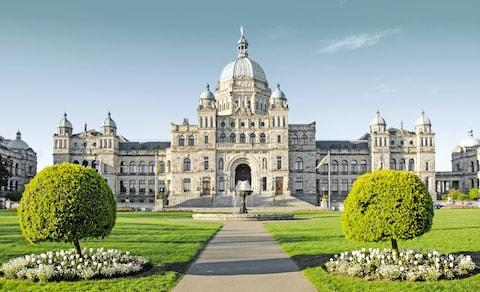 The British Columbia Parliament Buildings - Credit: getty