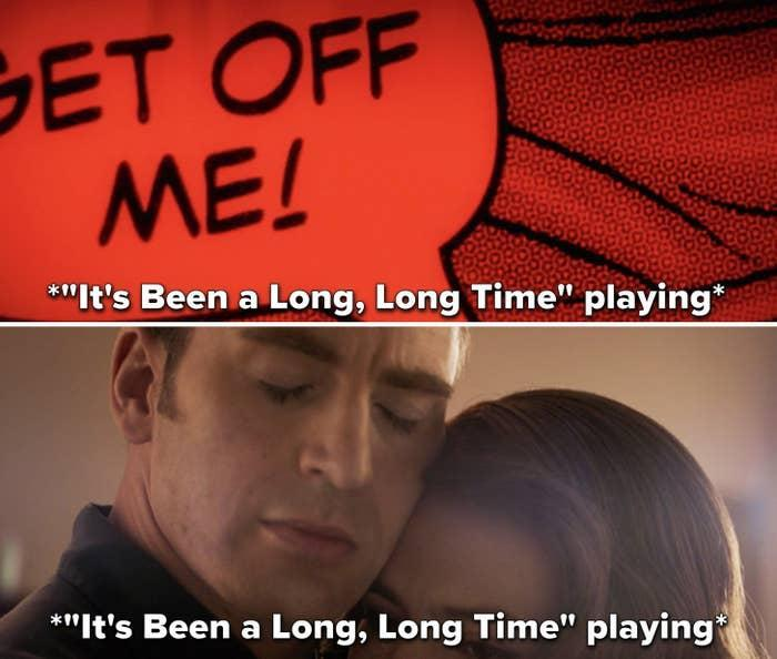 """Peggy and Steve dancing to """"It's Been a Long, Long Time"""""""