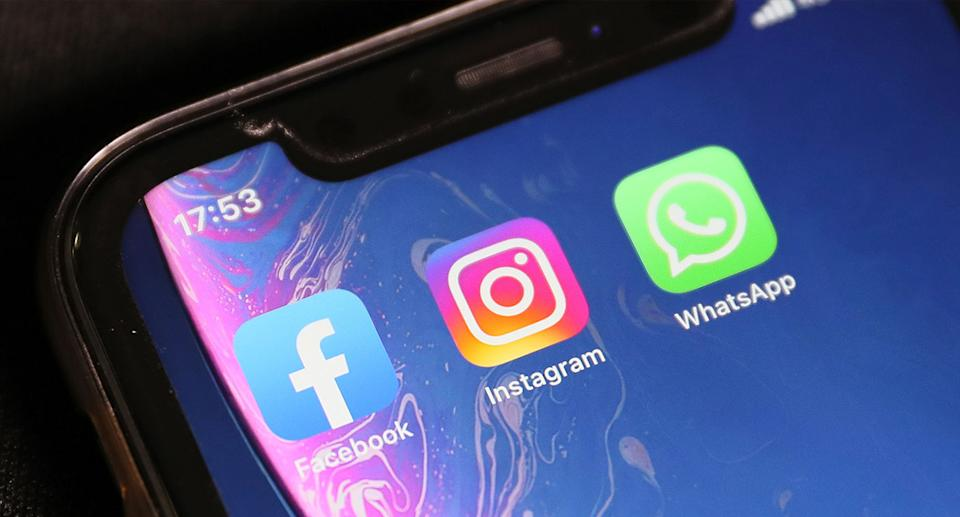 Facebook, Instagram and WhatsApp are currently down. Source: AP