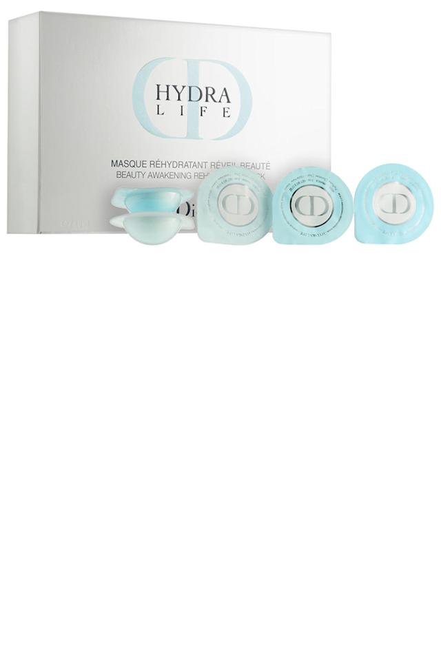 "<p>These little pods are packed with a hydrating mask that's a whole lot more discreet than a paper sheet mask. Let them sit for 5-10 (or the duration of the in-flight movie) and then tissue-off or rub-in the extra.</p><p><strong>Dior</strong>Hydra Life Beauty Awakening Rehydrating Mask Capsules, $42.00, <a rel=""nofollow"" href=""http://www.neimanmarcus.com/Dior-Hydra-Life-Beauty-Awakening-Rehydrating-Mask-Capsules-7-x-5-mL/prod189370162/p.prod?icid=&searchType=MAIN&rte=%2Fsearch.jsp%3Ffrom%3DbrSearch%26request_type%3Dsearch%26search_type%3Dkeyword%26q%3Dface+mask&eItemId=prod189370162&cmCat=search&tc=239¤tItemCount=50&q=face+mask&searchURL=/search.jsp%3Ffrom%3DbrSearch%26start%3D0%26rows%3D30%26q%3Dface+mask%26l%3Dface+mask%26request_type%3Dsearch%26search_type%3Dkeyword"">neimanmarcus.com</a></p>"