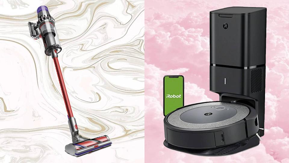 Prices are slashed on top-rated vacuums from Dyson, iRobot, Bissell, and Shark! (Photo: Dyson/iRobot)