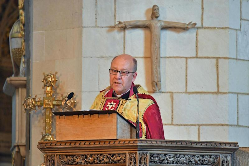 File image of Dean of Southwark Andrew Nunn speaking during a service to mark one year since the London Bridge terror attack in 20170 (PA)