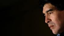 FILE PHOTO: Maradona, coach of Argentina's national soccer team attends news conference in Munich