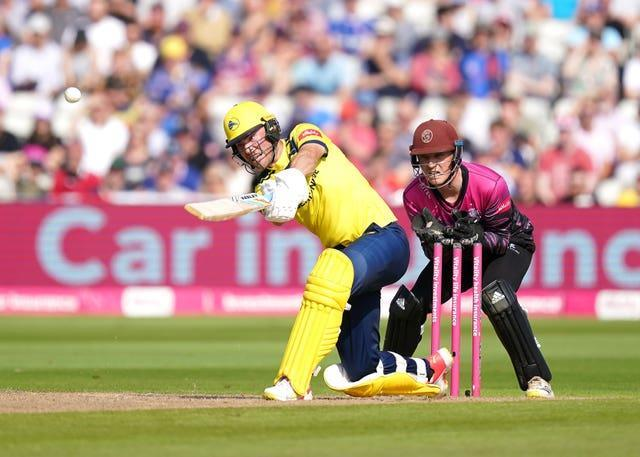 Joe Weatherley top-scored with 71 for Hampshire