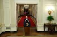 """Biden defended the US pullout from Afghanistan as """"the right decision"""" (AFP/Brendan Smialowski)"""